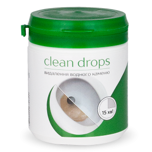 "Remedy for removing water stone in the knee of the toilet bowl ""Clean drops"""